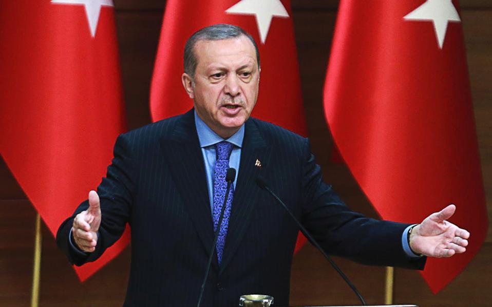 Σε ομιλία του ο Τούρκος πρόεδρος άφησε να εννοηθεί ότι τα σύνορα της σύγχρονης Τουρκίας δεν ικανοποιούν ούτε τον ίδιο ούτε και τη χώρα του.