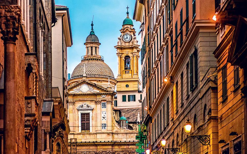 H εκκλησία del Gesù e dei Santi Ambrogio e Andrea στο κέντρο της Γένοβας. (Φωτογραφία: Visual Hellas.gr)