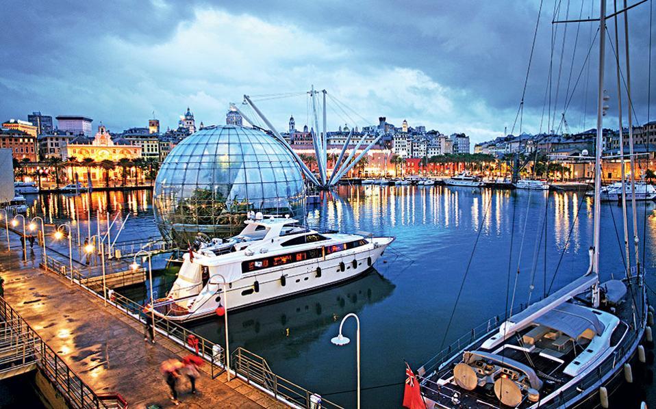 Tη θεαματική ανάπλαση του Porto Antico της Γένοβας υλοποίησε ο Renzo Piano. (Φωτογραφία: Getty images/Ideal image)