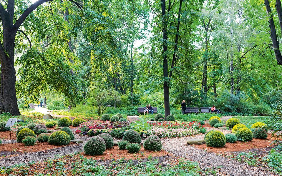 Ο βοτανικός κήπος  είναι μια όαση χαλάρωσης στο κέντρο της πόλης. (Φωτογραφία: Lidiya Shironina)