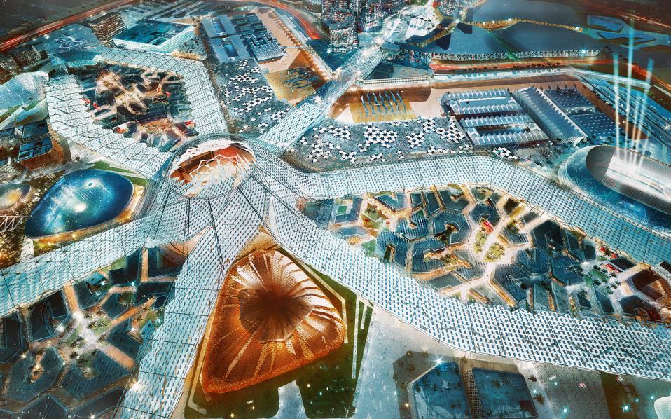 ΝΤΟΥΜΠΑΪ, μάστερ πλαν για την Παγκόσμια Εκθεση EXPO 2020. Αρχιτεκτονικό γραφείο: HOK
