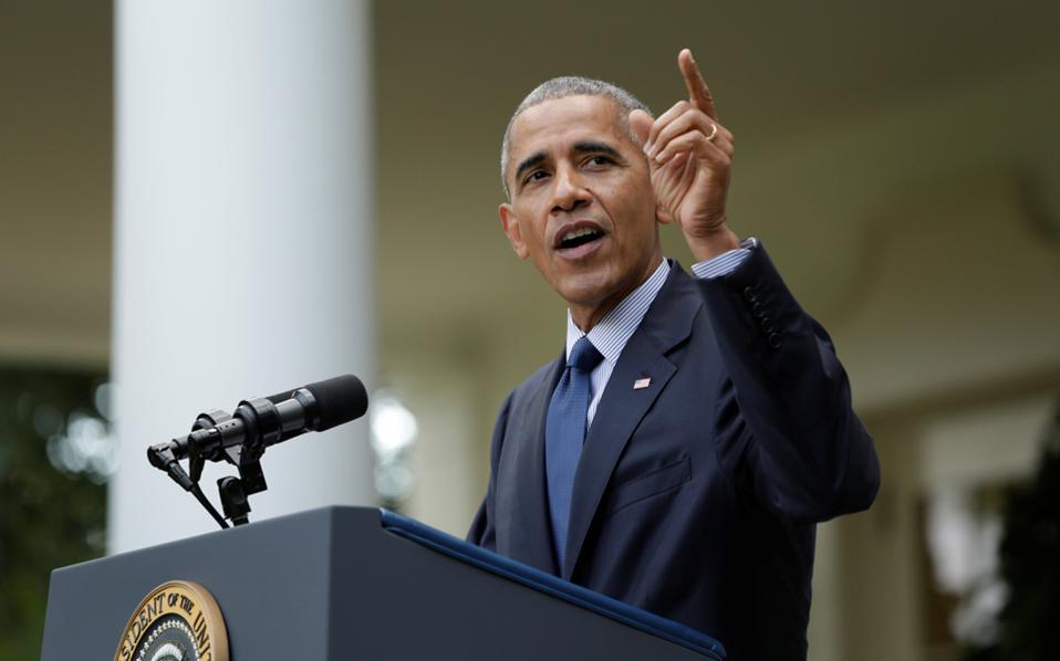 Ο Μπαράκ Ομπάμα θα επισκεφθεί την Αθήνα στις 15 Νοεμβρίου.