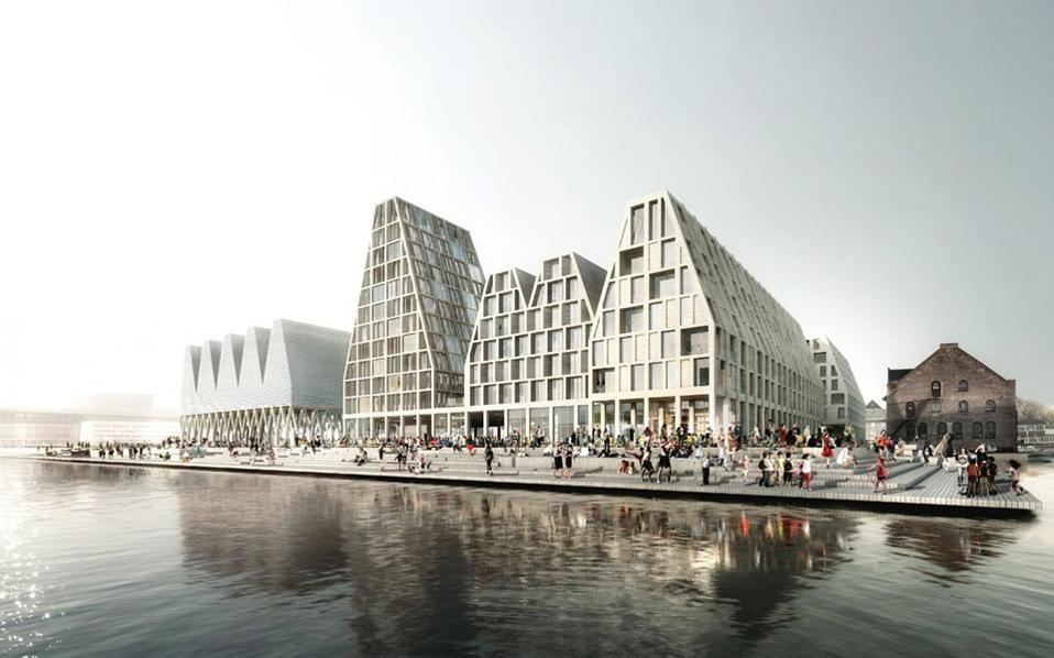 Tεράστια ανάπλαση και ανάπτυξη προβλέπεται για το νησάκι Κρίστιανσχολμ στην Κοπεγχάγη, σύμφωνα με τη μελέτη του αρχιτεκτονικού γραφείου Cobe.