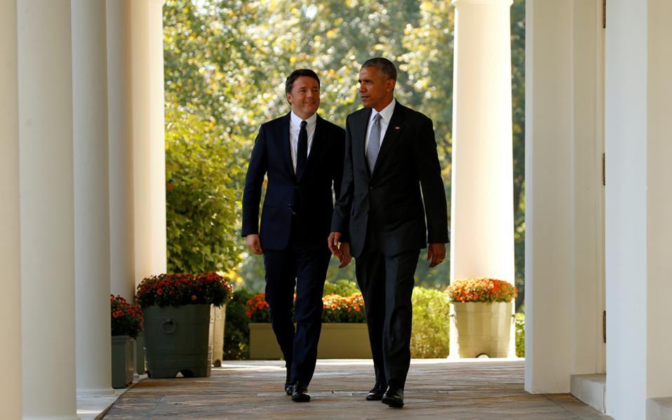 Ο Ιταλός πρωθυπουργός είναι ο τελευταίος ηγέτης που είδε στον Λευκό Οίκο κατά τη θητεία του ο Ομπάμα.