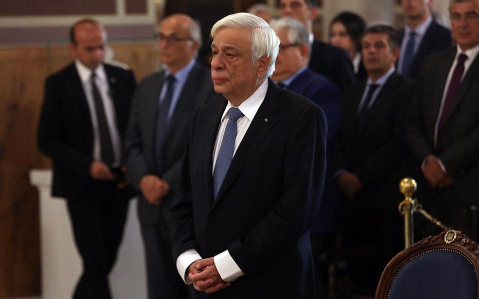 Ο Πρόεδρος της Δημοκρατίας Προκόπης Παυλόπουλος στη σημερινή δοξολογία στη Μητρόπολη Αθηνών για την 30η επέτειο του Πανελληνίου Εορτασμού του Αγίου Διονυσίου του Αρεοπαγείτη.