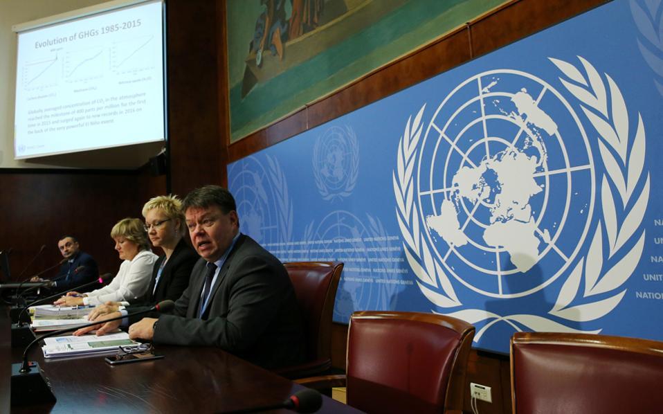 O γενικός γραμματέας του Διεθνούς Οργανισμού Μετεωρολογίας Πέτερι Τάαλας εξέφρασε την ελπίδα τα επιστημονικά δεδομένα να βρουν αντανάκλαση στην πολιτική πράξη.