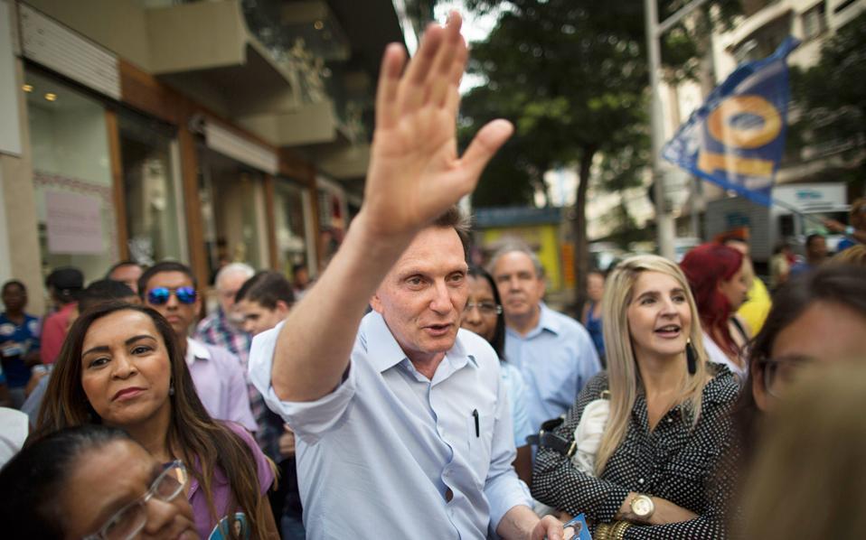 Εικόνα αρχείου από το 2014 του Μαρσέλο Κριβέλα, επισκόπου της Ευαγγελικής Εκκλησίας, ο οποίος εξελέγη δήμαρχος του Ρίο.