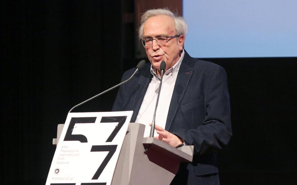 O κ. Αριστείδης Μπαλτάς στα εγκαίνια του Φεστιβάλ Κινηματογράφου Θεσσαλονίκης.