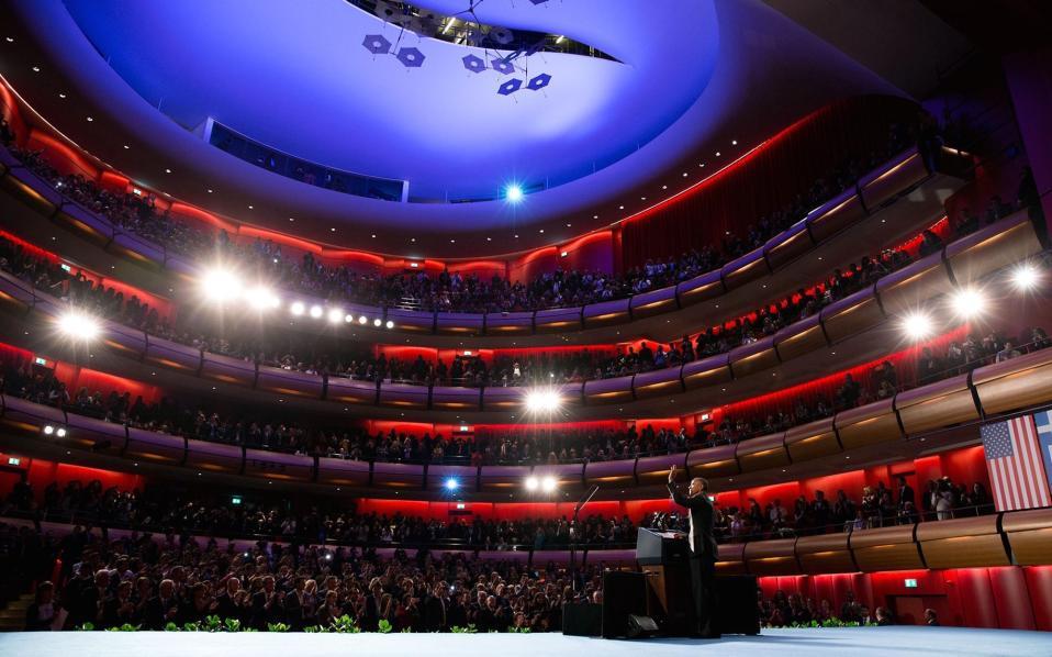 Κατά την ομιλία του στο Κέντρο Πολιτισμού του Ιδρύματος Στάυρος Νιάρχος.