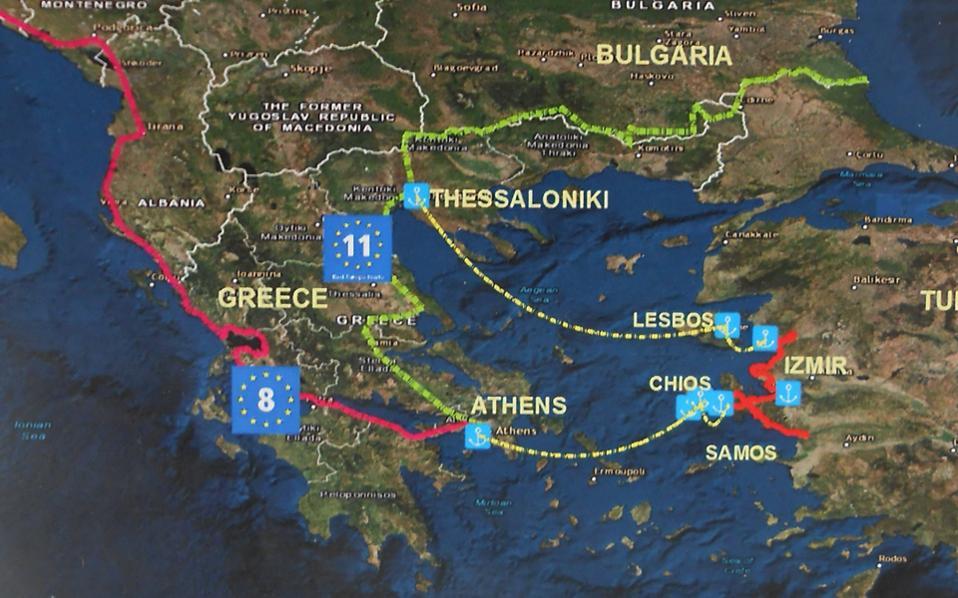 Στο πλαίσιο του προγράμματος Eurovelo, η αντιπροσωπεία της Σμύρνης πρότεινε στη Λέσβο, αλλά και στη Χίο, η διαδρομή συνολικής έκτασης 495 χλμ. να επεκταθεί από την Αθήνα στη Σμύρνη μέσω των εν λόγω νησιών.