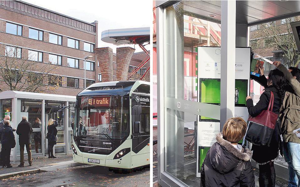 Στο Γκέτεμποργκ, σε στάση ηλεκτρικού λεωφορείου βρήκε θέση η βιβλιοθήκη των Ελλήνων αρχιτεκτόνων. Η ανταλλακτική βιβλιοθήκη στη Σουηδία είναι περιστρεφόμενη για εύκολη χρήση από τους πολίτες. Σε Ελλάδα και Κύπρο υπάρχουν 13 βιβλιοθήκες.