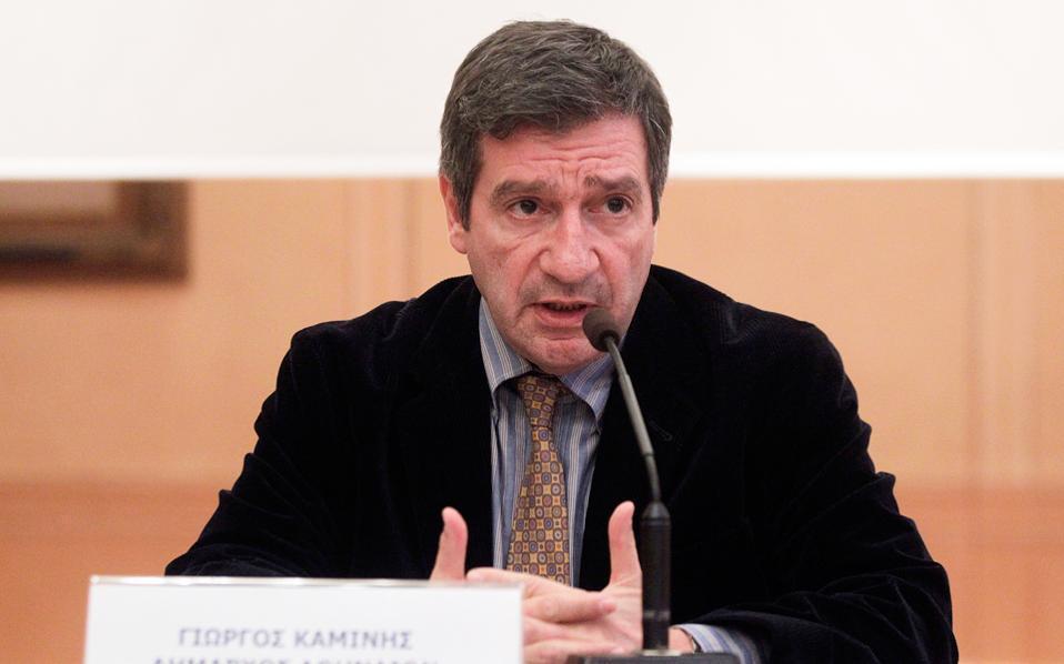 Ο δήμαρχος Αθηναίων κ. Γιώργος Καμίνης.