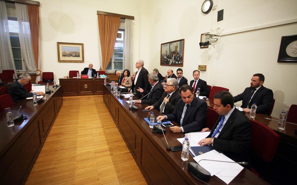 Συνεδρίαση της εξεταστικής επιτροπής για τα δάνεια κομμάτων και ΜΜΕ.