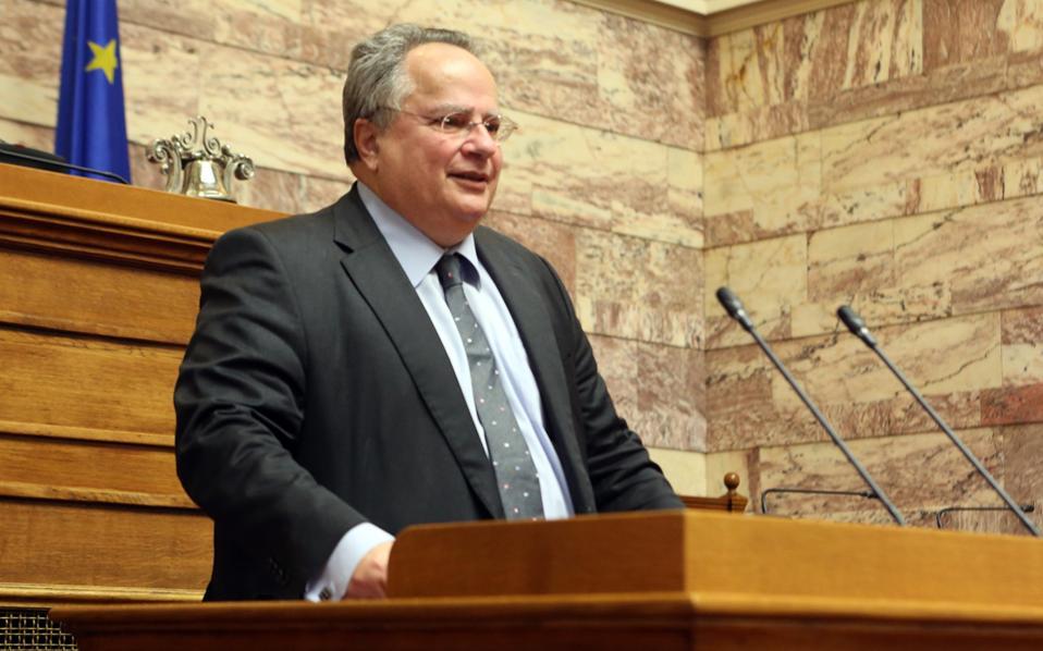 Ο κ. Ν. Κοτζιάς αναφέρθηκε, μεταξύ άλλων, και στο Κυπριακό.