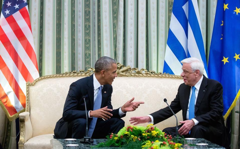 Κατά τη συνομιλία του με τον Πρόεδρο της Δημοκρατίας, Προκόπη Παυλόπουλο.