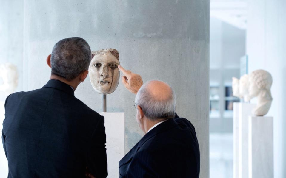 Ξενάγηση του προέδρου των ΗΠΑ στο Μουσείο.