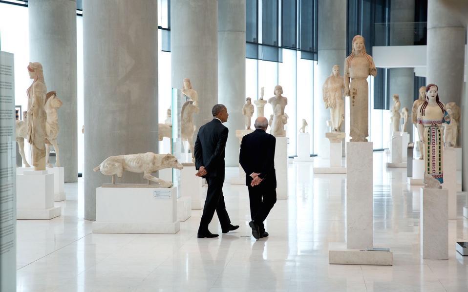 Με τον πρόεδρο του Μουσείου της Ακρόπολης, κύριο Δημήτρη Παντερμαλή.