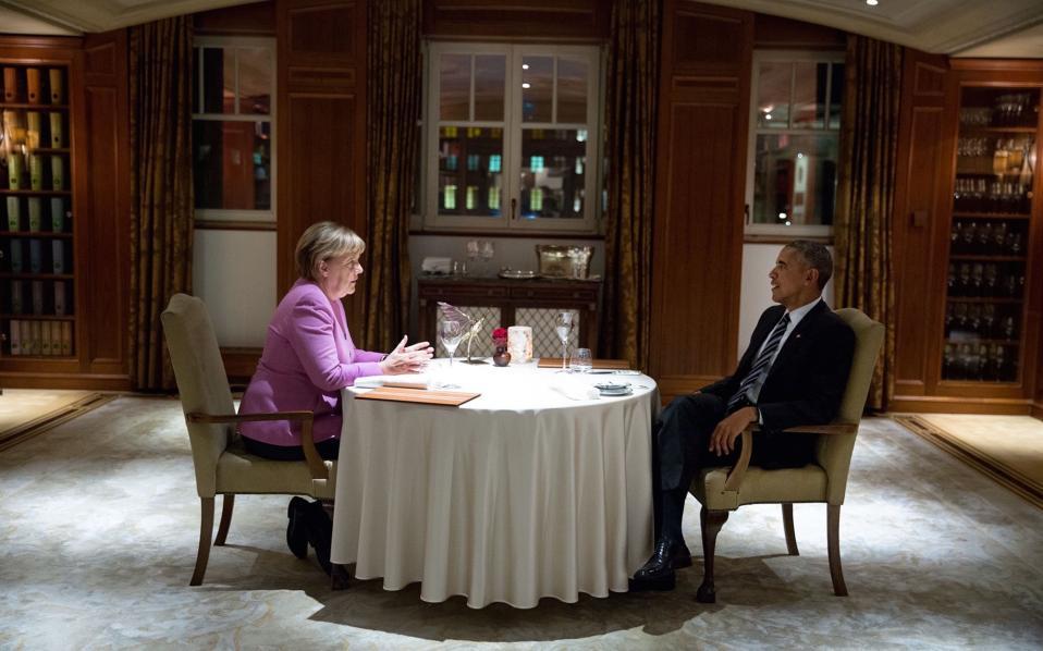 Σε δείπνο με την γερμανίδα Καγκελάριο.