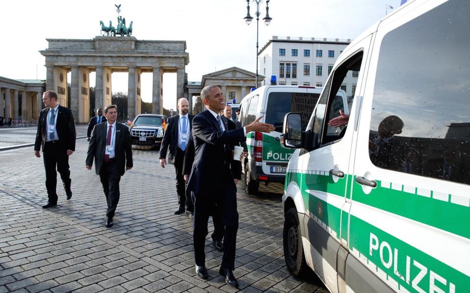 Κατά την άφιξή του στη Γερμανία.