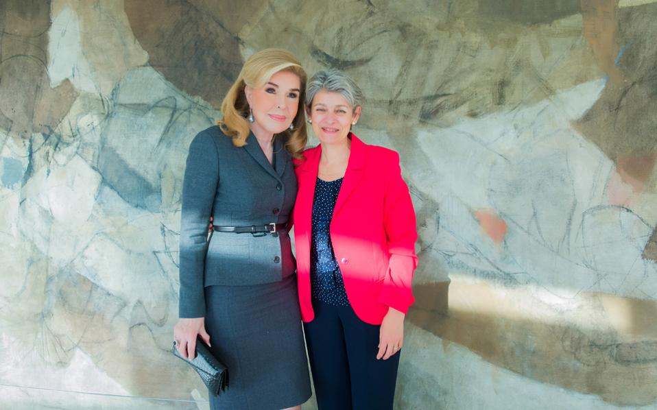 H συνεργασία της Irina Bokova με την Mαριάννα B. Bαρδινογιάννη διαρκεί, με ανθρώπινους στόχους και αξίες πολιτισμού, από το 2009, οπότε η κ. Bokova ανέλαβε τη διεύθυνση της UNESCO, ώς σήμερα, στη δεύτερη θητεία της και συνεχίζεται, απόδειξη η Διεθνής Συνάντηση των Aθηνών. Oι δύο φίλες και συνεργάτιδες μοιράζονται κοινά οράματα, ανταλλάσσουν απόψεις και τρέφουν εκτίμηση για το έργο τους, η μία για την άλλη.