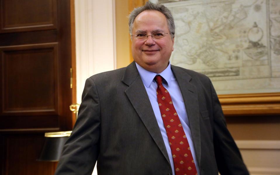 Ο υπουργός Εξωτερικών Νίκος Κοτζιάς.