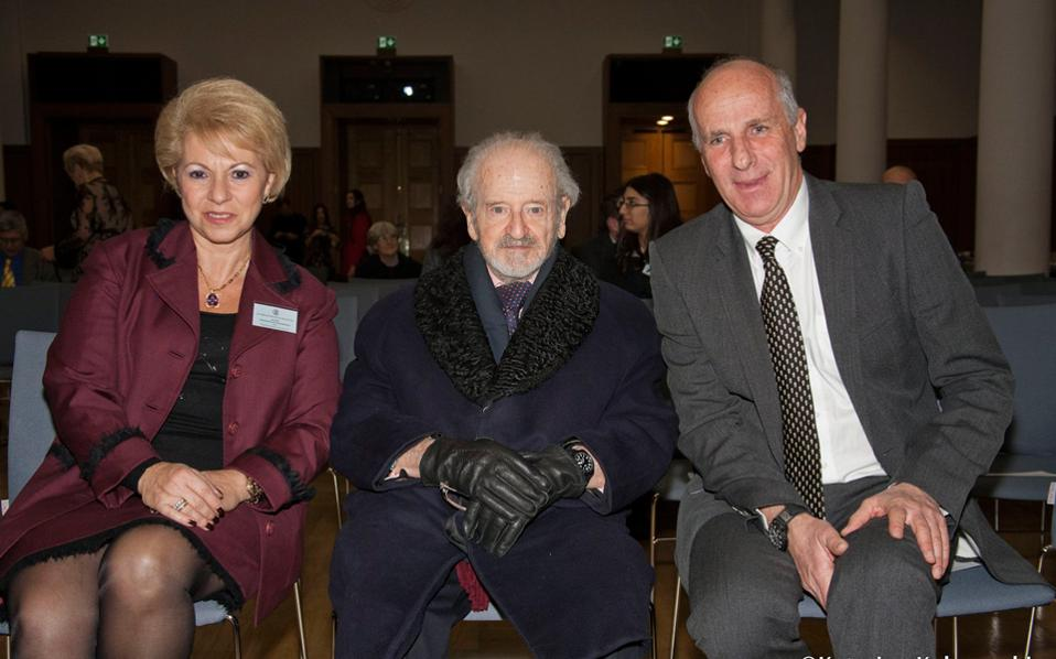O διάσημος ζωγράφος και δημιουργός της Runciman  Lecture, Nicholas Egon. (Φωτογραφία Kατερίνα Kαλογεράκη)
