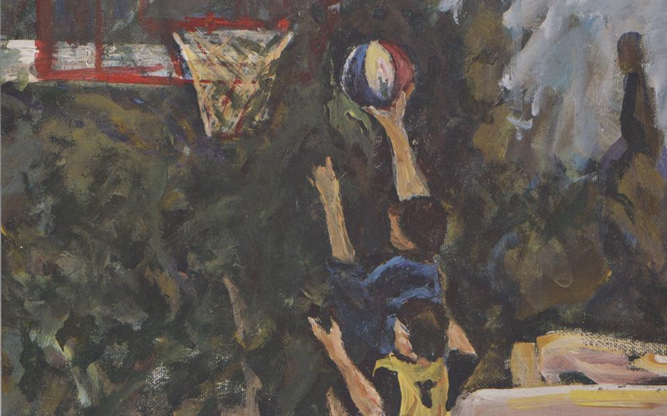 Μπάσκετ ΙΙ, ακρυλικά σε καμβά, 35x30 εκ.