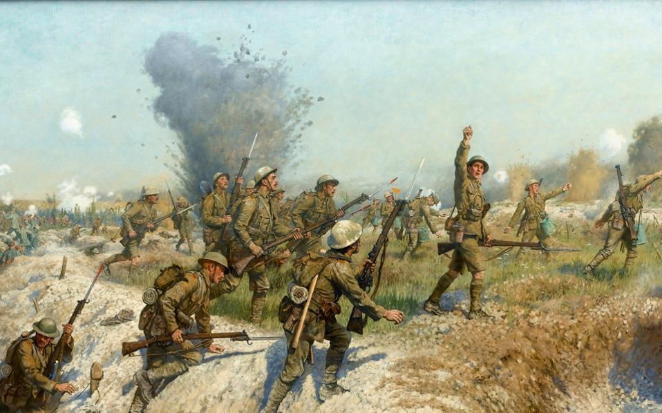 Η πρώτη ημέρα του Σομ. Πίνακας του Φρανκ Χάρλεϊ.