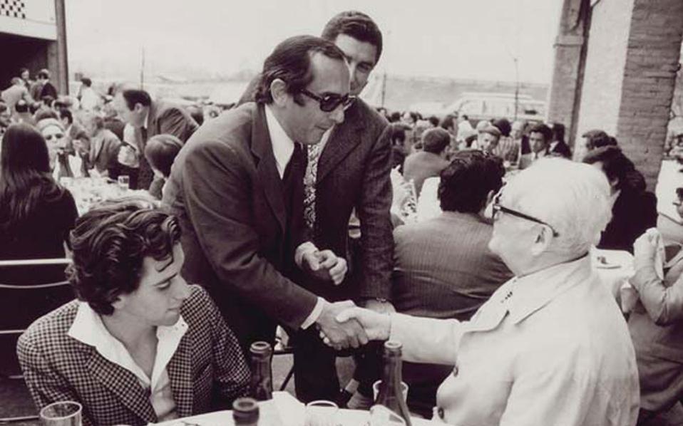 Ο Jack Heuer μαζί με τον Enzo Ferarri