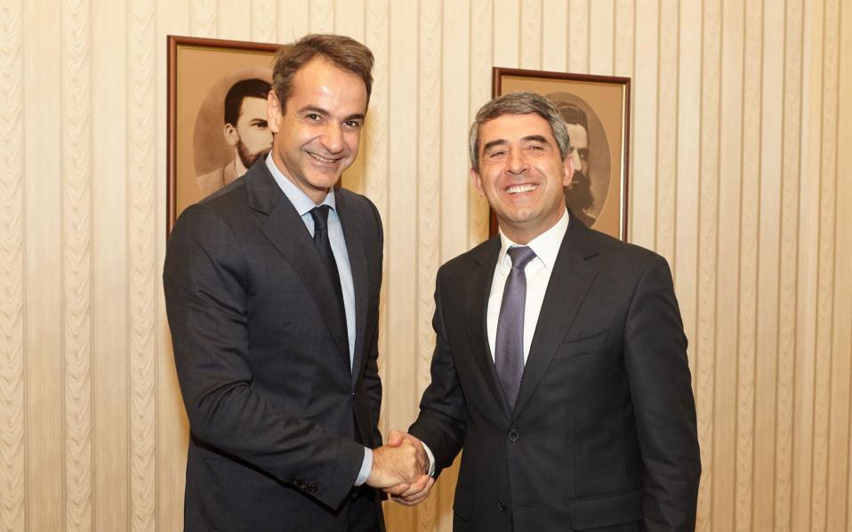 O Κ. Μητσοτάκης και ο πρόεδρος της Βουλγαρίας Ρόσεν Πλεβνέλιεφ.
