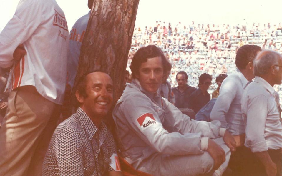 Ο Jack Heuer μαζί με τον πρωταθλητή της F1 Jacky Ickx στο Monaco GP, το 1973