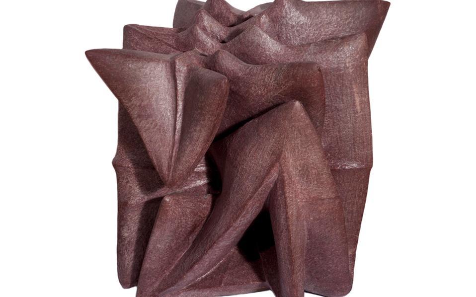 «Volcano», Γεράσιμος Σκλάβος (1927-1967). Πορφυρός αιγυπτιακός γρανίτης, μοναδικό γλυπτό, σμιλεμένο μεταξύ 1964-1965, 60x70x48 εκ.