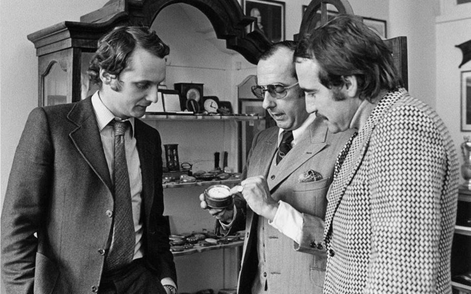 O Nikki Lauda, ο Jack Heuer και ο Clay Regazzoni το 1971