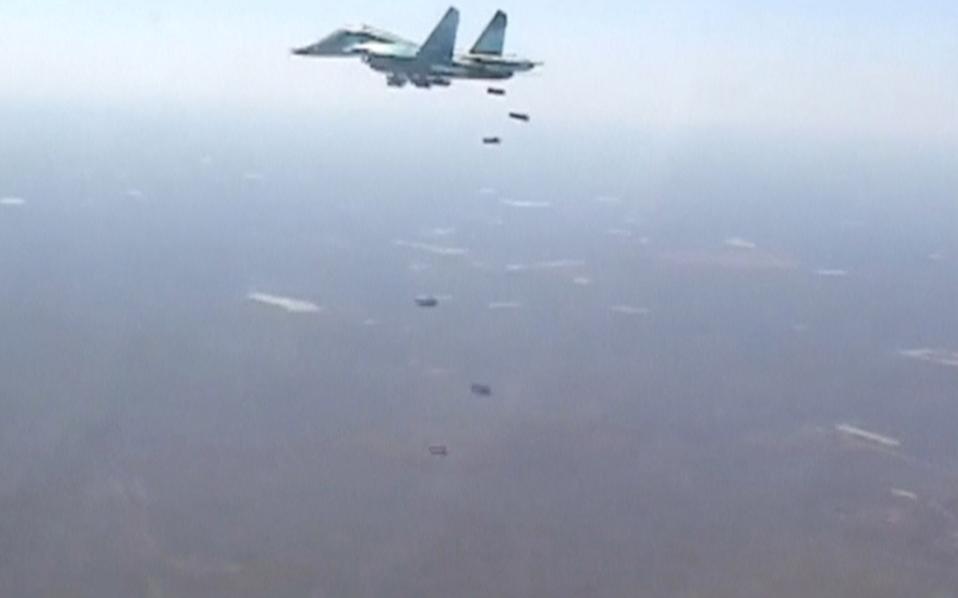 Ρωσικά μαχητικά πάνω από τη Συρία.