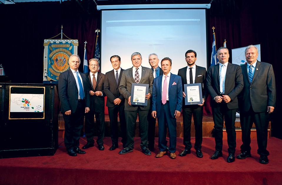 (Από αριστερά) Κωνσταντίνος Κωνσταντινίδης, Κωνσταντίνος Κουσκούκης, Ζήσης Μπουκουβάλας, Γιώργος Πατούλης, Νικόλαος Κουβελάς, Πέτρος Γαλάτουλας, Βασίλης Αποστολόπουλος, Γιάννης Δατσέρης