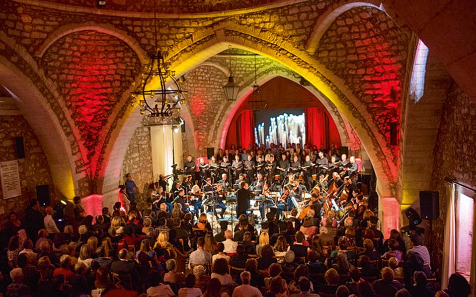 Συναυλία κάτω από τους θόλους του Ωδείου της πόλης. (Φωτογραφία: ΕΦΗ ΠΑΡΟΥΤΣΑ)