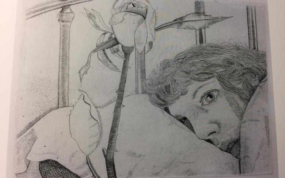 Λούσιαν Φρόιντ, «Ασθενής στο Παρίσι», 1948. Ο συγγραφέας στα οκτώ κεφάλαια του «Εμείς οι θνητοί» διανύει θεματολογικά την απόσταση από το υγιές και ανεξάρτητο άτομο μέχρι τον ηλικιωμένο, τον ανήμπορο γέροντα, τον πάσχοντα ασθενή τελικού σταδίου και τελικώς τον θνήσκοντα άνθρωπο.