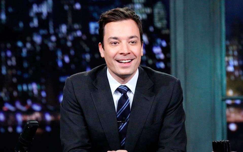 O δημοφιλέστατος Αμερικανός τηλε-διασκεδαστής Τζίμι Φάλον.