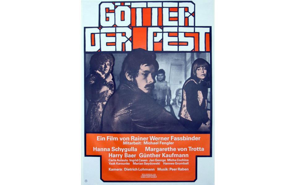 """«Οι θεοί της πανούκλας», ταινία του 1969. «Ο Φασμπίντερ ήταν μια ιδιοφυΐα, κάτι που αργότερα του αναγνωρίστηκε, ένας """"βιρτουόζος"""", που με κάθε νέο έργο, θεατρικό ή κινηματογραφικό, γινόταν καλύτερος», λέει ο Χάρι Μπερ."""