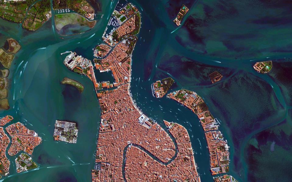 Εικόνα της Βενετίας από ψηλά.