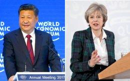 Δύο χθεσινά στιγμιότυπα από τον κόσμο που αλλάζει: ο Κινέζος πρόεδρος Σι υπεραμύνεται της παγκοσμιοποίησης στο βήμα του Οικονομικού Φόρουμ του Νταβός στην Ελβετία και η Βρετανίδα πρωθυπουργός Τερέζα Μέι αποσαφηνίζει τις θέσεις της για ένα σκληρό Brexit, που φέρνει τη χώρα της σε πλήρη ρήξη με την Ε.Ε. και επισημοποιεί τα βήματα για ένα οριστικό διαζύγιο από την Ευρώπη.