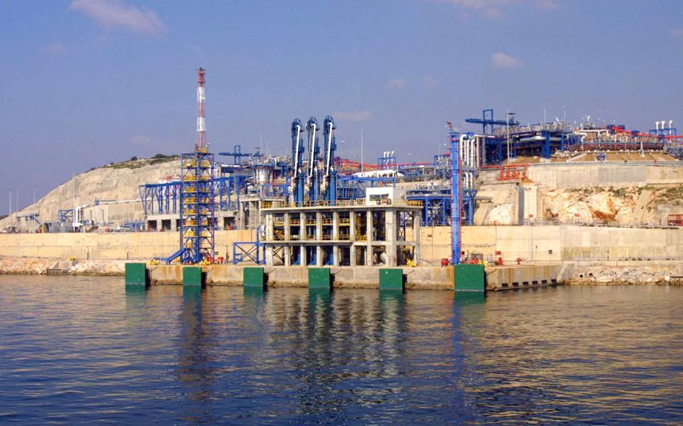 Τα αποθέματα της Ρεβυθούσας (φωτ.) σε LNG εξαντλούνται στις 21 Ιανουαρίου, καθώς το πλοίο που αναμενόταν από την Αλγερία καθυστερεί λόγω κακοκαιρίας.