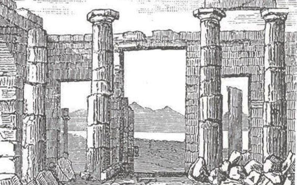 Tα Προπύλαια σχεδιασμένα από τον Γ. Αρενμπεργκ, κατά την επίσκεψή του στην Ελλάδα.