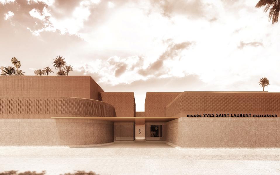 Η είσοδος του μουσείου όπως την οραματίστηκε το γαλλικό γραφείο ΚΟ, εμπνεόμενο από την τοπική αρχιτεκτονική.