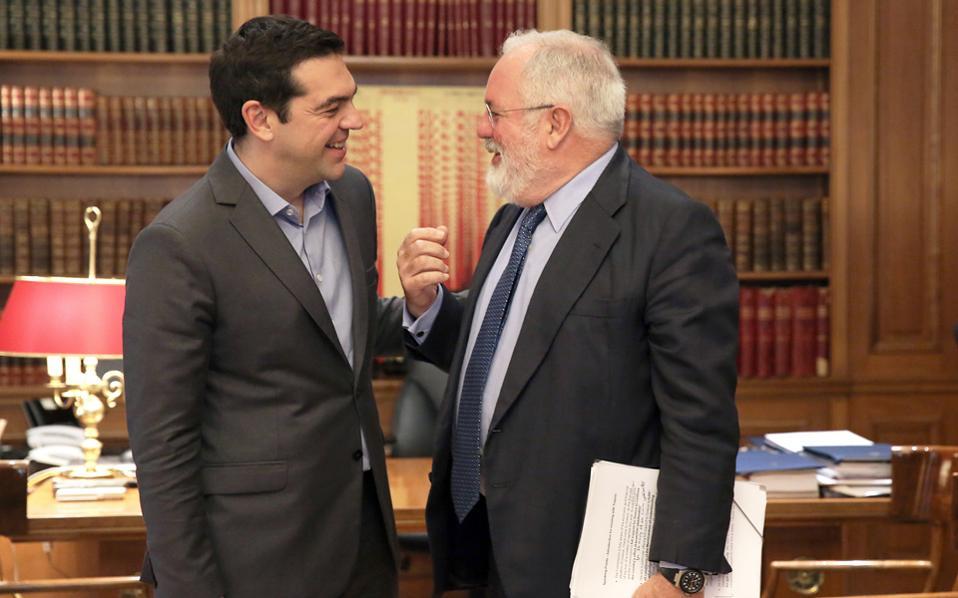 Τον Ευρωπαίο επίτροπο Ενέργειας και Δράσης για το Κλίμα, Μιγκέλ Αρίας Κανιέτε, υποδέχθηκε χθες ο πρωθυπουργός Αλέξης Τσίπρας στο Μέγαρο Μαξίμου.