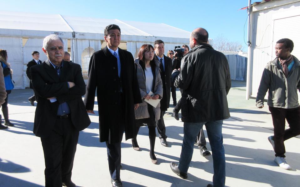 Ο κ. Κίσι είχε την ευκαιρία να επισκεφθεί το κέντρο φιλοξενίας του Ελαιώνα.