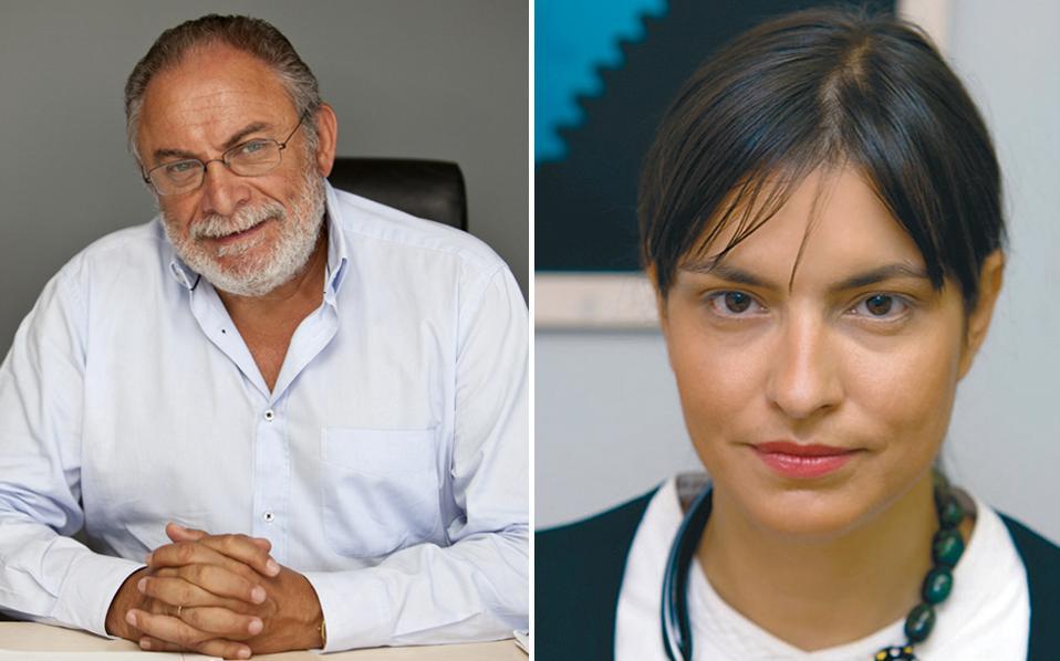 Ο νέος πρόεδρος της Ελληνικής Εταιρείας Συμμετοχών & Περιουσίας Γ. Διαμαντόπουλος και η νέα διευθύνουσα σύμβουλος Ουρ. Αικατερινάρη.