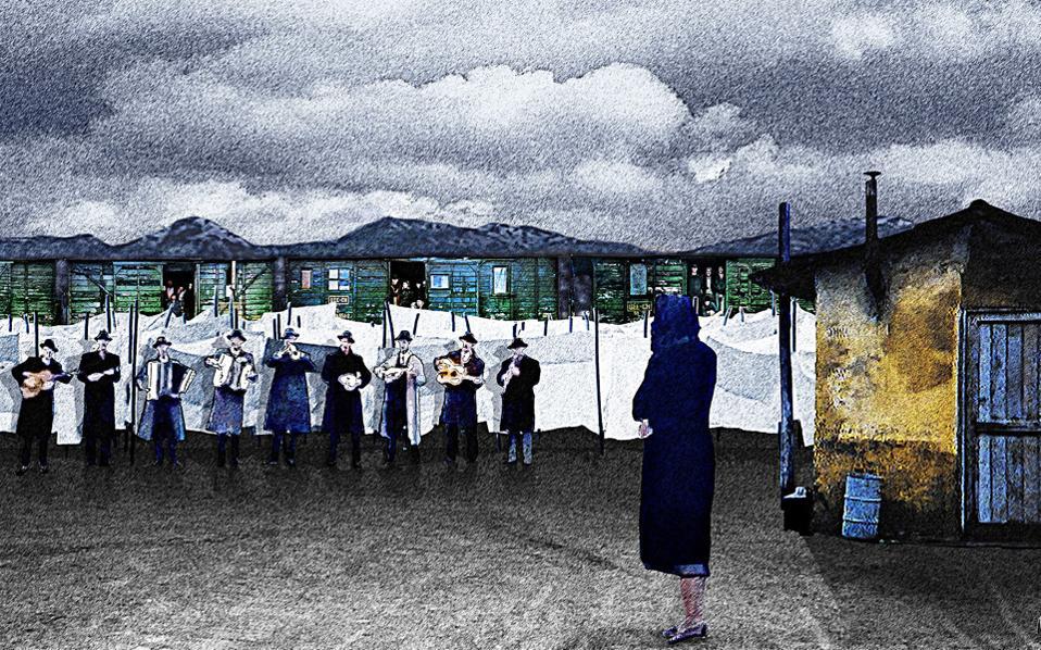 Εικαστική σύνθεση εμπνευσμένη από σκηνή της ταινίας του Θόδωρου Αγγελόπουλου «Το λιβάδι που δακρύζει».
