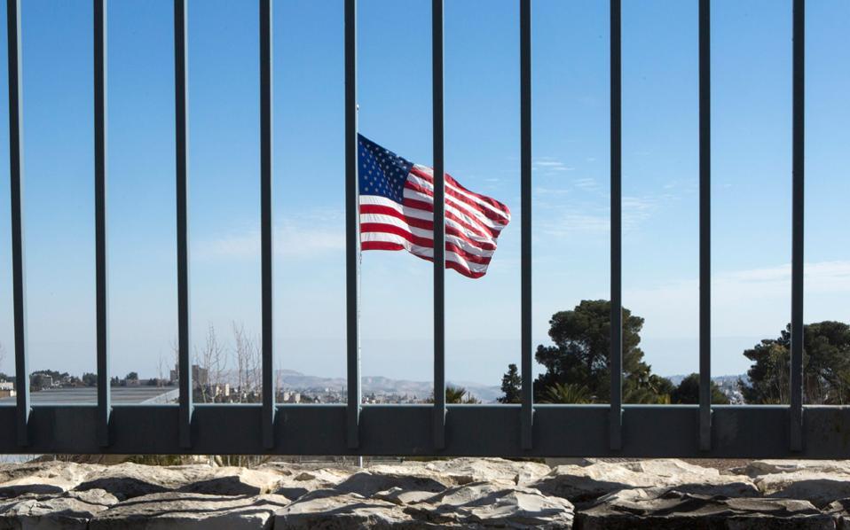 Αποψη του αμερικανικού προξενείου στη δυτική Ιερουσαλήμ.