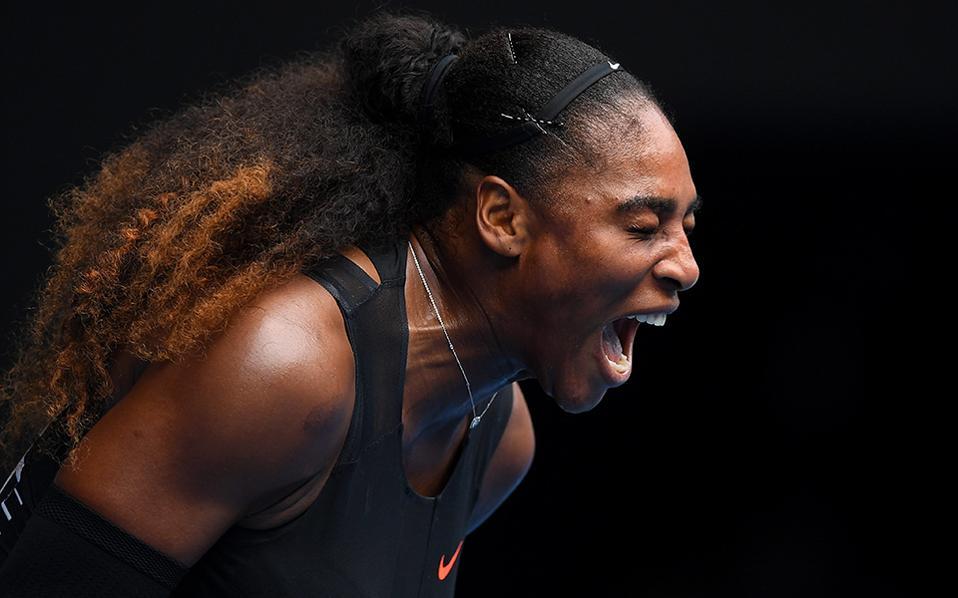 Πάνθηρας. Συνεχίζονται οι αγώνες στο Australia Open Grand Slam με μεγάλα ονόματα και συναρπαστικά (για τους λάτρεις του αθλήματος) ματς. Στην φωτογραφία η Serena Williams ουρλιάζει στην διάρκεια αγώνα εναντίον της Barbora Strycova από την Τσεχία.  EPA/LUKAS COCH